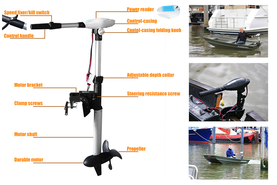 Trolling motor 100 lbs electric outboard 24v 2 hp variable for 100 hp electric motor price