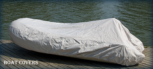 Inflatable boat covers with D-rings