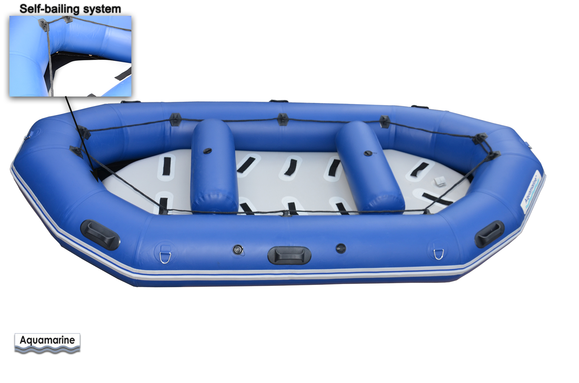 12 Ft Whitewater Inflatable River Raft Boat