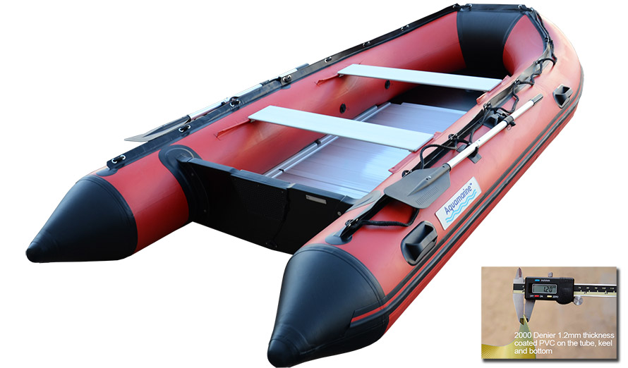 14 ft INFLATABLE BOAT RED/BLK