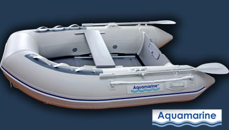 7.5 ' inflatable boat with fiberglass transom