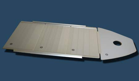Aluminum floor for 12'6  inflatable fishing boat