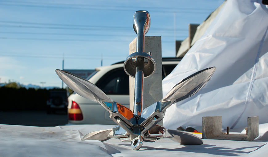 Folding Grapnel anchor 1.5 kg stainless steel 3.3 lb