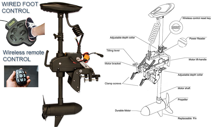 55 Lb Trolling Motor With Wireless And Foot Control