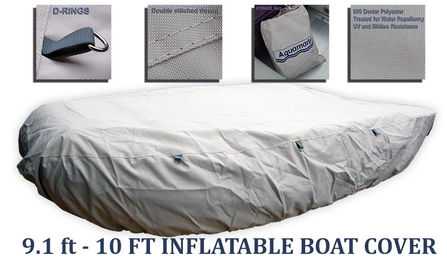 Boat  cover  for  9.1 ft -10 ' feet inflatable boat dinghy with