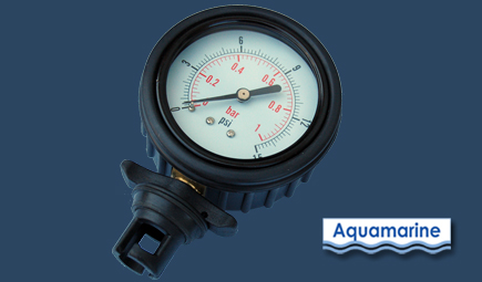 Pressure gauge for inflatable boat, raft