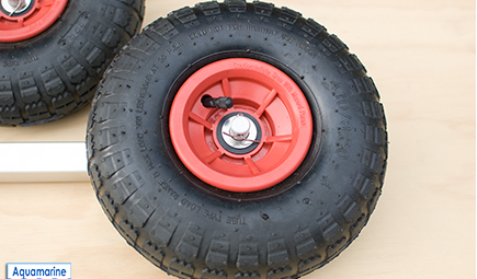 LAUNCHING WHEELS FOR INFLATABLE DINGHY