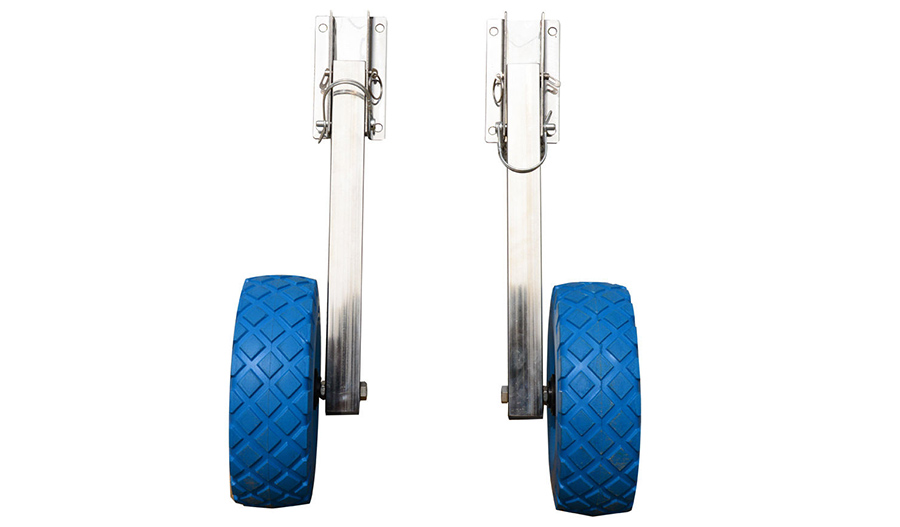 Boat Launching wheels flat free tires stainless