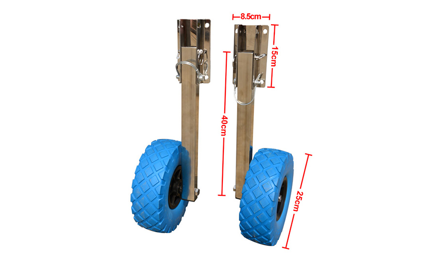 Boat Launching wheels Dimensions of the dolly