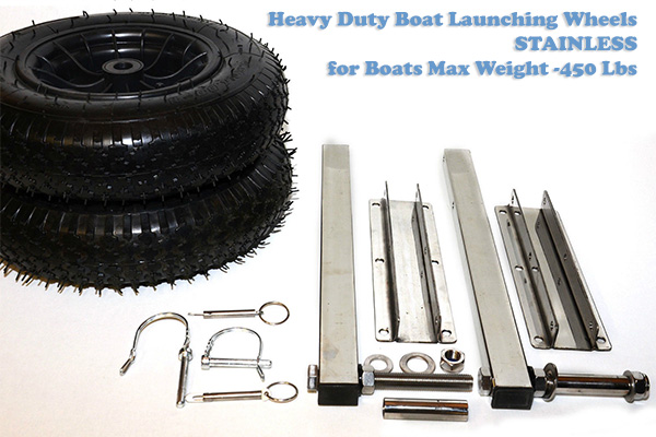 Heavy duty Boat launching wheels Stainless