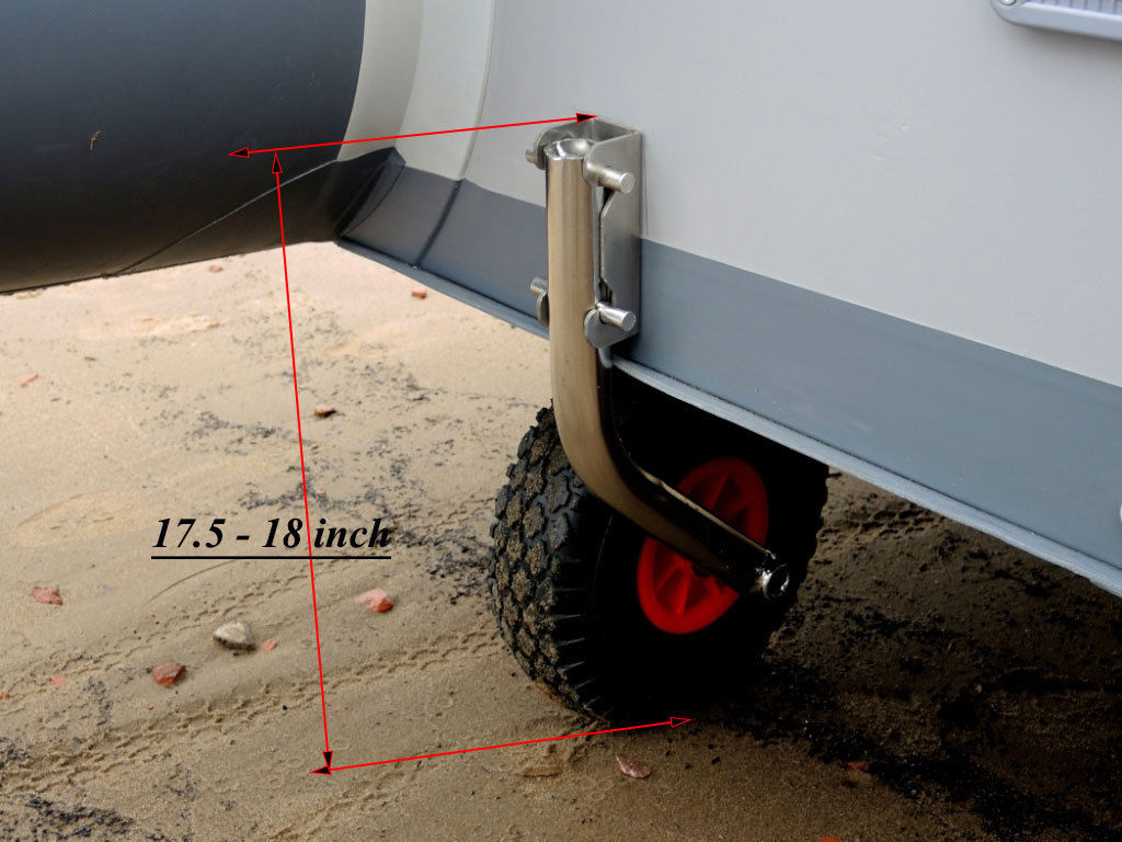Small Boat Wheels : Boat launching wheels for inflatable dinghy quick release