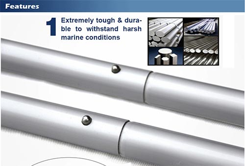 Aluminum oars for inflatable boat