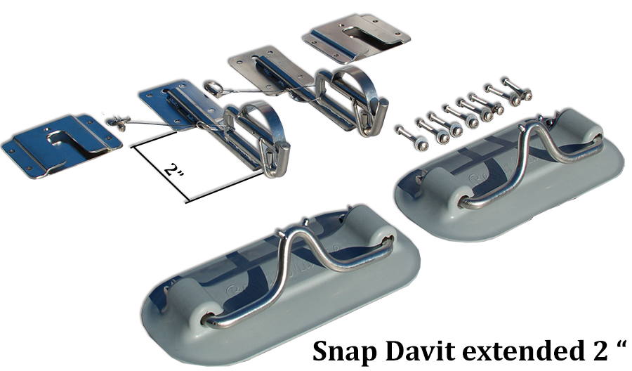 Snap Davits for Inflatable boat ext 2 in