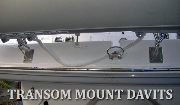 Transom Davits for Inflatable dinghy